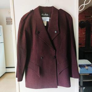 🦋 VINTAGE Plum Thierry Mugler Blazer Coat 42 XL